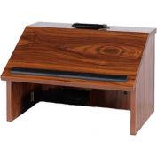 Non-Sound Folding Tabletop Lectern - Walnut