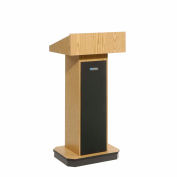 Executive non-sound Column Lectern - Medium Oak