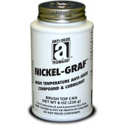 NICKEL-GRAF™ Nickel & Graphite Based Anti-Seize 2600°F, 8oz. Brush Top 12/Case - 13008 - Pkg Qty 12