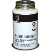 PURE WHITE™ Food Grade Anti Seize w/PTFE 475°F, 8oz. Brush Top 12/Case - 31008 - Pkg Qty 12