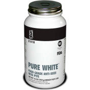 PURE WHITE™ Food Grade Anti Seize w/PTFE 475°F, 1 Lb. Brush Top 12/Case - 31018 - Pkg Qty 12