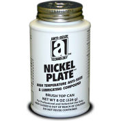 NICKEL PLATE™ Anti-Seize w/Graphite, 2600°F, 8oz. Brush Top 12/Case - 35010 - Pkg Qty 12