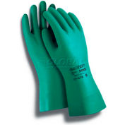 Sol-Vex® II Chemical Resistant Gloves, Ansell 37-646, Nitrile, Straight Cuff, Size 8, 1 Pair - Pkg Qty 12