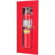 "Loma Extinguisher Cabinet, Full Bubble, ALUM, 9""L x 24""H x 4""D"