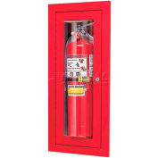 "Loma Extinguisher Cabinet, Full Bubble, Brass, 9""L x 24""H x 4""D"