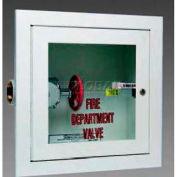 "Alta Valve Cabinet, Full Break Glass, Steel, Semi-Recessed, 14""L x 40""H x 8""D"