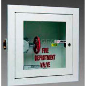 "Alta Valve Cabinet, Full Glass, Stainless Steel, Semi-Recessed, 14""L x 40""H x 8""D"