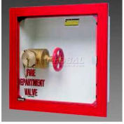 """Buena Valve Cabinet, Full Acrylic Door, Stainless Steel, Recessed, 18""""L x 18""""H x 8""""D"""