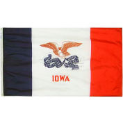4X6 Ft. 100% Nylon Iowa State Flag