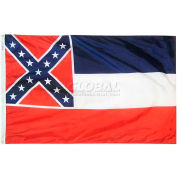 4X6 Ft. 100% Nylon Mississippi State Flag