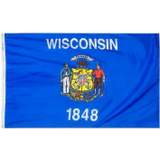 4X6 Ft. 100% Nylon Wisconsin State Flag