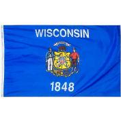 4X6 Ft. 100% Nylon Wisconsin State Flag