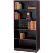 "Stellar 5-Shelf Bookcase, 32""W x 14""D x 66""H, Deep Espresso"