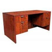 "Stellar Executive Desk with Hanging Pedestals, 66""W x 30""D x 30""H, Warm Cherry"