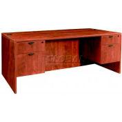 "Stellar Executive Desk with Hanging Pedestals, 72""W x 36""D x 30""H, Warm Cherry"