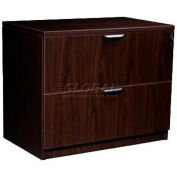 "Stellar 2-Drawer Lateral File with Finished Top, 35""W x 21-1/2""D x 30""H, Deep Espresso"