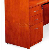 "York Box/Box/File Pedestal, 16""W x 22""D x 29""H, Light Cherry"