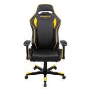 DXRacer® Office & Gaming Hi-Back Chair, D-series, Black & Yellow Polyurethane