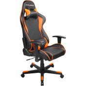 DXRacer® Office & Gaming Hi-Back Chair, F-series, Black & Orange Polyurethane