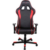 DXRacer® Office & Gaming Hi-Back Chair, F-series, Black & Red Polyurethane