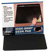 Rhinolin Desk Pad with Privacy Cover, 19 x 24, Black