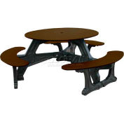 Polly Products Bodega Table, Brown Top/Black Frame