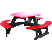 Polly Products Bodega Table, Red Top/Black Frame