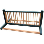 Polly Products 10 Position Bike Rack, Brown/Brown