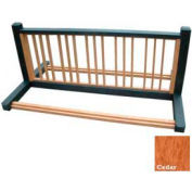 Polly Products 10 Position Bike Rack, Green/Cedar