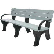 Polly Products Deluxe 6 Ft. Backed Bench with Arms, Green Bench/Green Frame