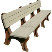 Polly Products Deluxe 8 Ft. Backed Bench, Brown Bench/Brown Frame