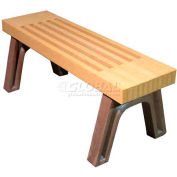 Polly Products Elite 4 Ft. Flat Bench, Cedar Bench/Brown Frame