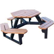 Polly Products Econo-Mizer Hexagon Table, Green Top/Black Frame