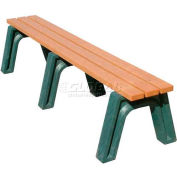 Polly Products Econo-Mizer 6 Ft. Flat Bench, Cedar Bench/Black Frame