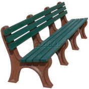 Polly Products Econo-Mizer 8 Ft. Backed Bench, Brown Bench/Brown Frame