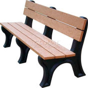 Polly Products Econo-Mizer Traditional 6 Ft. Backed Bench, Cedar Bench/Black Frame
