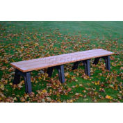Polly Products Econo-Mizer Traditional 8 Ft. Flat Bench, Cedar Bench/Brown Frame
