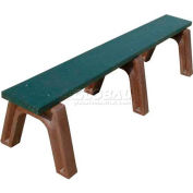 Polly Products Landmark 6 Ft. Flat Bench, Brown Bench/Brown Frame