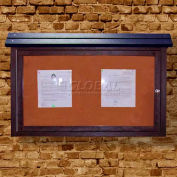 """Polly Products Medium Message Center - 1 Sided/No Post, Brown, 40""""W x 30""""H"""