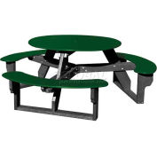 Polly Products Open Round Table, Green Top/Black Frame