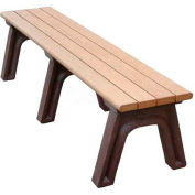 Polly Products Park Classic 6 Ft. Flat Bench, Cedar Bench/Black Frame