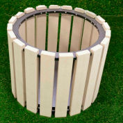 """Polly Products 26"""" Diameter Round Planter, Brown"""