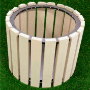 """Polly Products 26"""" Diameter Round Planter, Charcoal"""