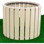 "Polly Products 30"" Diameter Round Planter, Weathered"