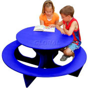 Polly Products Round Activity Table, Blue Top/Blue Frame
