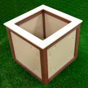 Polly Products Two-Toned Square Planter, Black/Weathered