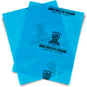 "Armor Poly VCI Bags 4""W x 6""H 4 Mil Blue 5,000 Pack"