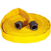 "Armored Textiles N56H25FX450N JAFX4 4 Ply Fire Hose, 2.5"" X 50 Ft, 330 PSI, Yellow"