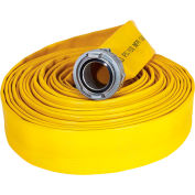 "Armored Textiles N56H4FX450S JAFX4 4 Ply Fire Hose, 4"" X 50 Ft, 250 PSI, Yellow"