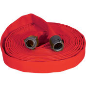 """Armored Textiles N50H25RR50N JAFRIB Standard Nitrile Fire Hose, 2-1/2"""" X 50 Ft, 300 PSI, Red"""